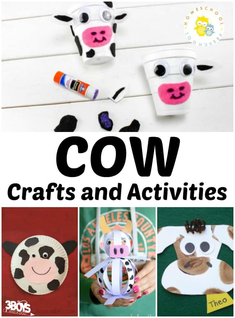 Holstein Cow Crafts and Activities