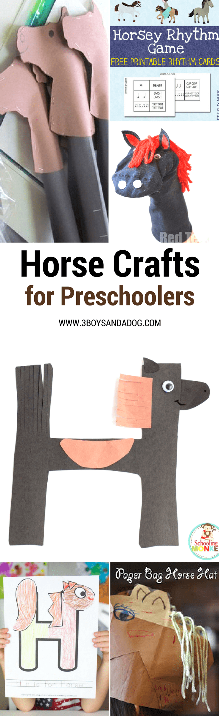 These fun horse crafts for preschoolers is a great list of activities for kids! They are such a great way to add hands-on learning to your farm unit! From crafts to coloring pages, there are so many Farm Activities for Kids here to help you teach your children all about horses!