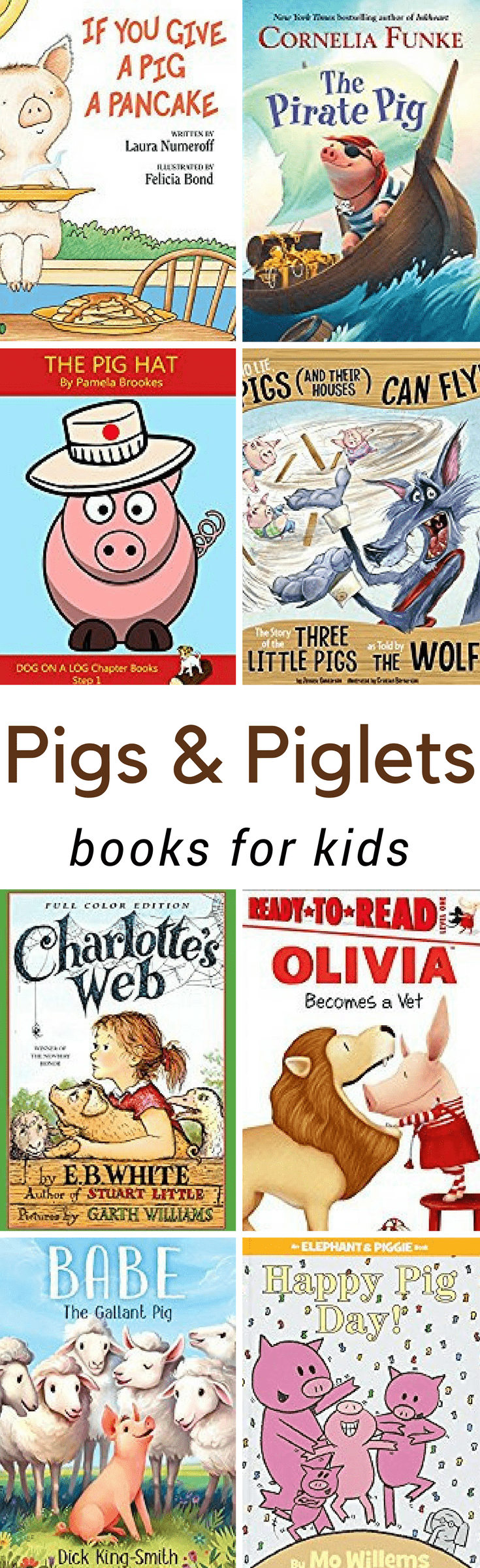 From cute stories to scientific education, these Pig Books for Kids are sure to help you as you and your children learn about farm animals. These books will help you teach your kids everything there is to know about adorable piglets and pigs.