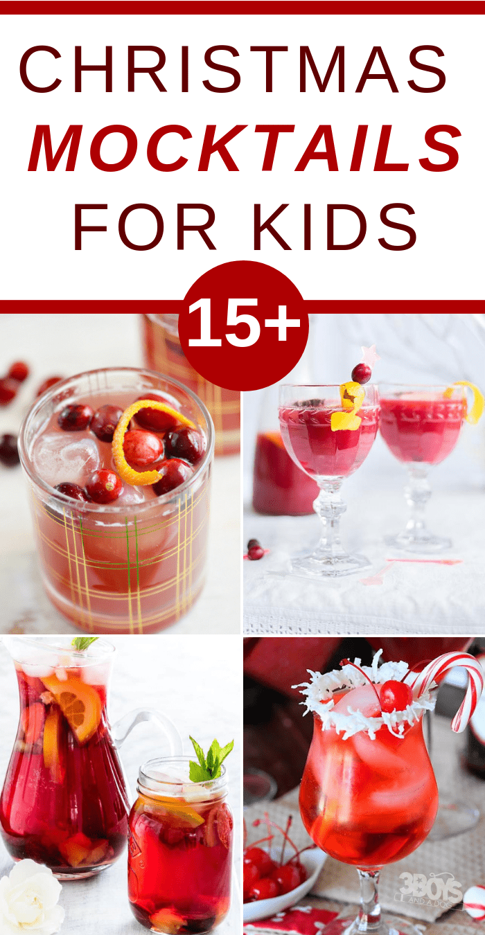 These Christmas Mocktails for kids are going to have you jumping for joy this holiday season! Mocktails are the perfect alternative to alcohol, plus it's something the whole family can indulge in. #mocktails #drinksforkids #christmasparty