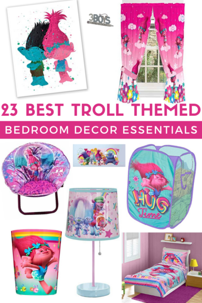 really wow with any of these 12 Trolls themed bedroom decoration items