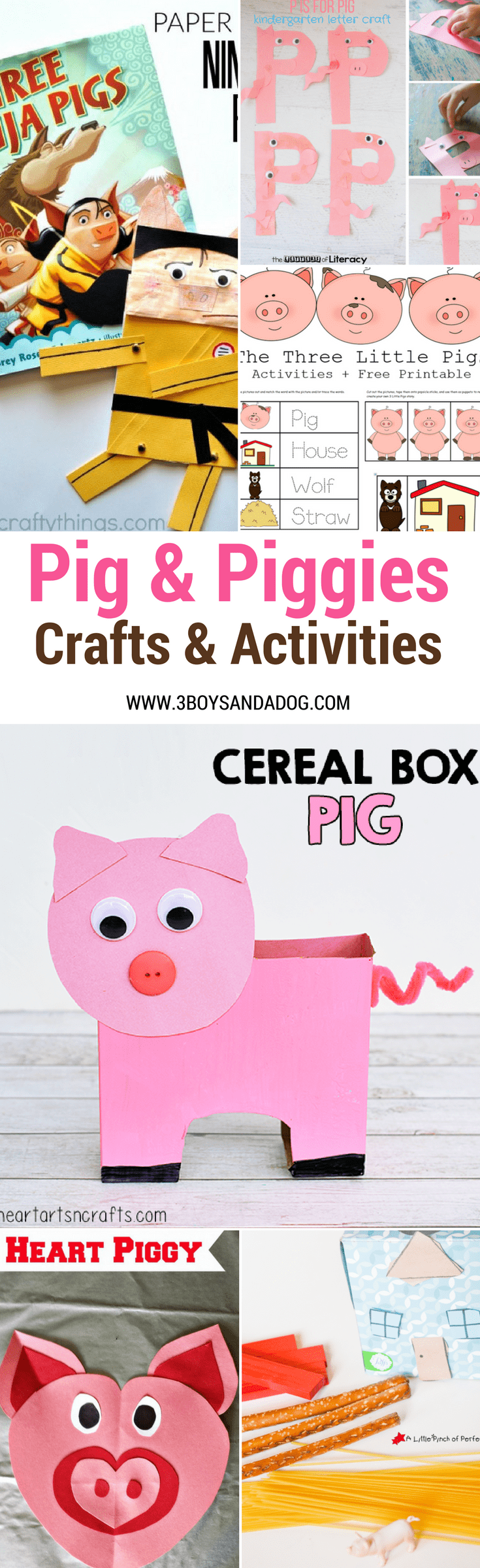 Grab your little one's attention with these fun pig crafts and activities featuring characters from classic pig stories, like Peppa Pig, the Three Little Pigs, and even If You Give a Pig A Pancake! Add these to help your little one learn math, grammar, art, and STEM!