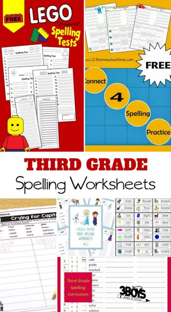 Need to help your elementary students with spelling? Try some of these 3rd grade spelling worksheets for kids!  It is still important for children to learn how to spell on their own!  These 3rd grade spelling worksheets for kids will help you teach and reinforce spelling to your elementary aged children.