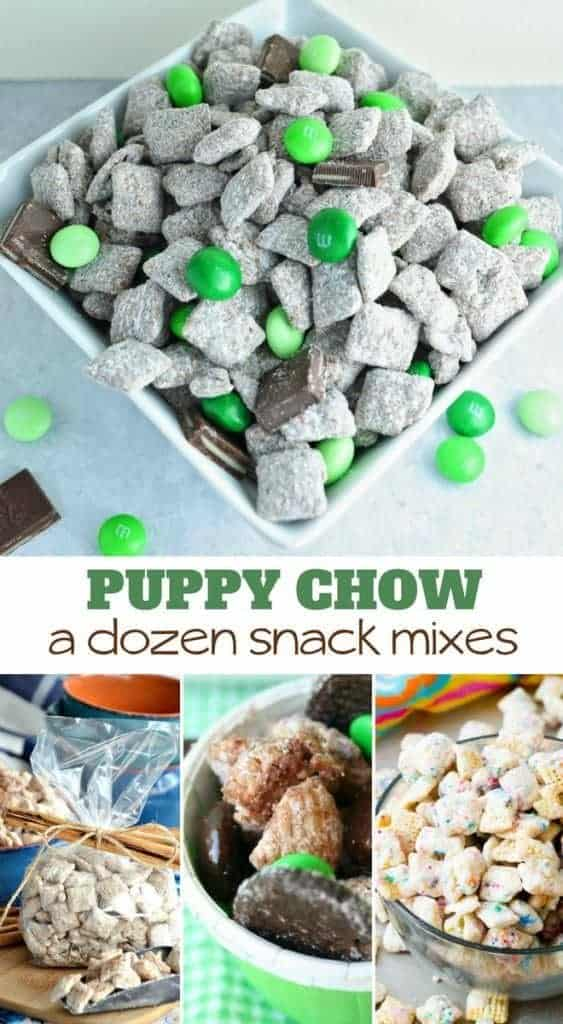 12 puppy chow sweet and savory snack mixes
