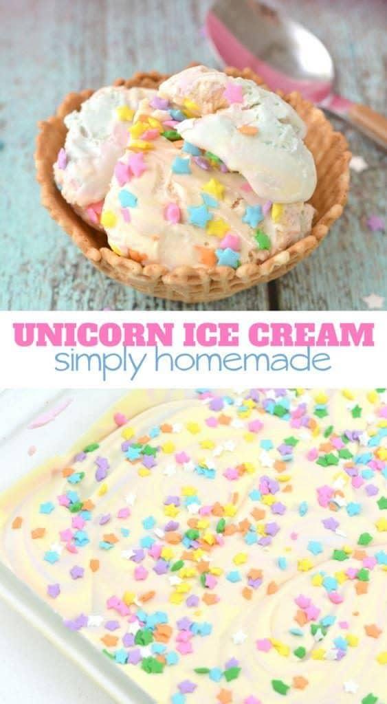 simply homemade unicorn ice cream