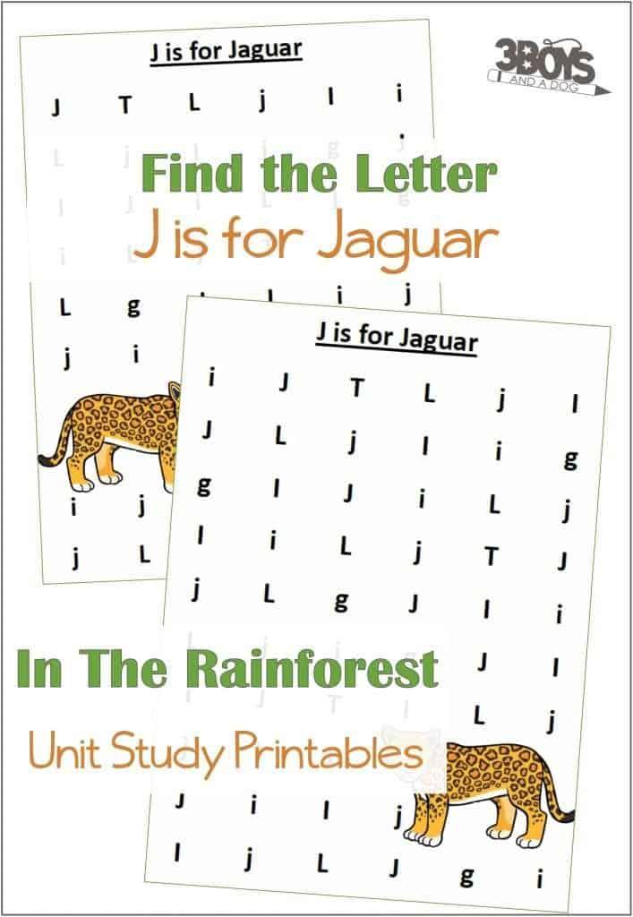Find the Letter J is for Jaguar