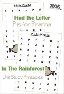 Find the Letter P is for Piranha