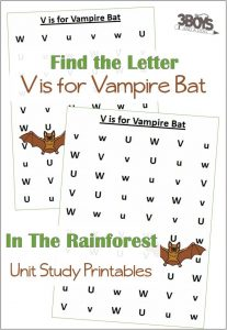 Find the Letter V is for Vampire Bat