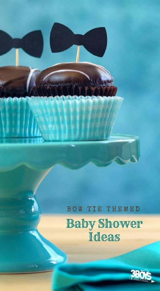 bow tie themed baby shower ideas