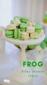 frog baby shower ideas