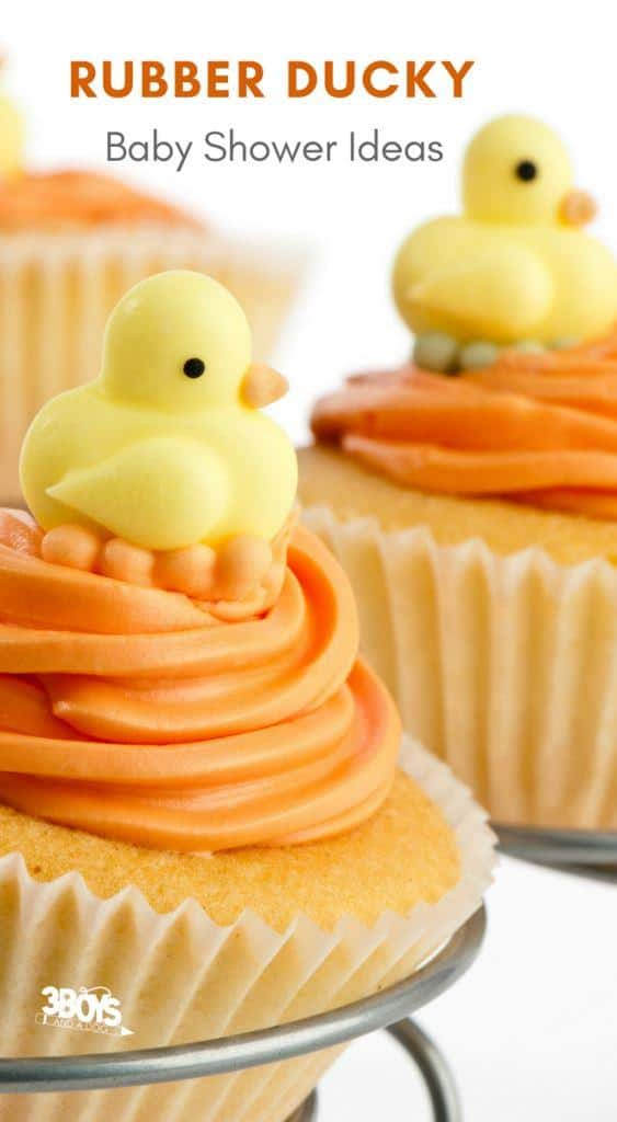 gender neutral rubber ducky baby shower ideas
