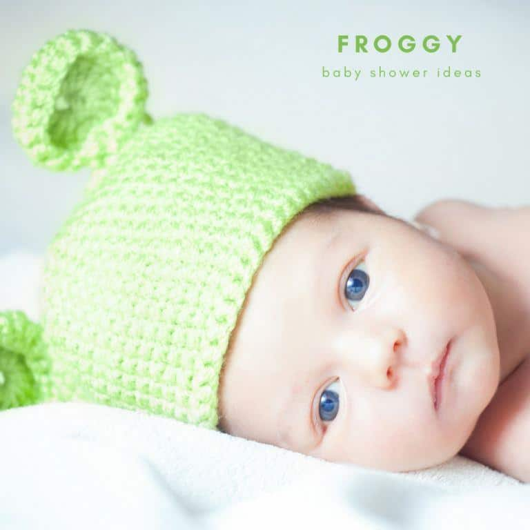 frog themed baby shower ideas