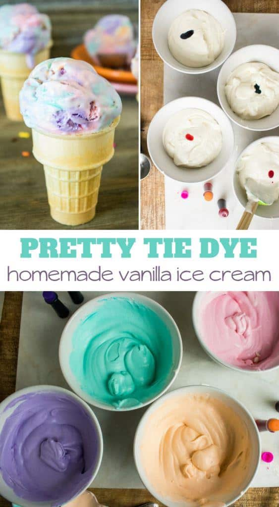Tie Dye Ice Cream DIY only 4 ingredients