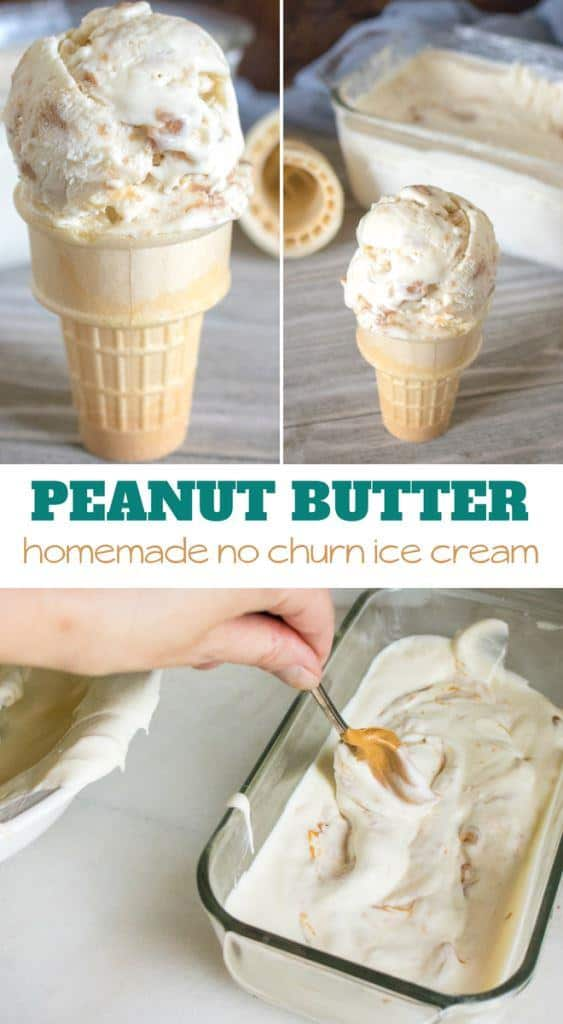 Peanut Butter Ice Cream with only 4 ingredients