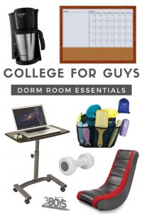 College for Guys Dorm Room Essentials