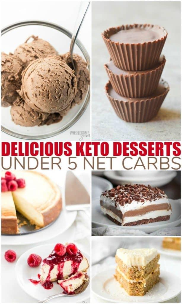 Keto Dessert Recipes | under 5 nets carbs each