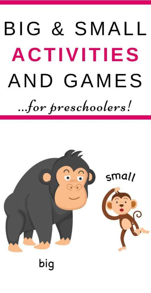 Big and Small Sorting Activities and Games