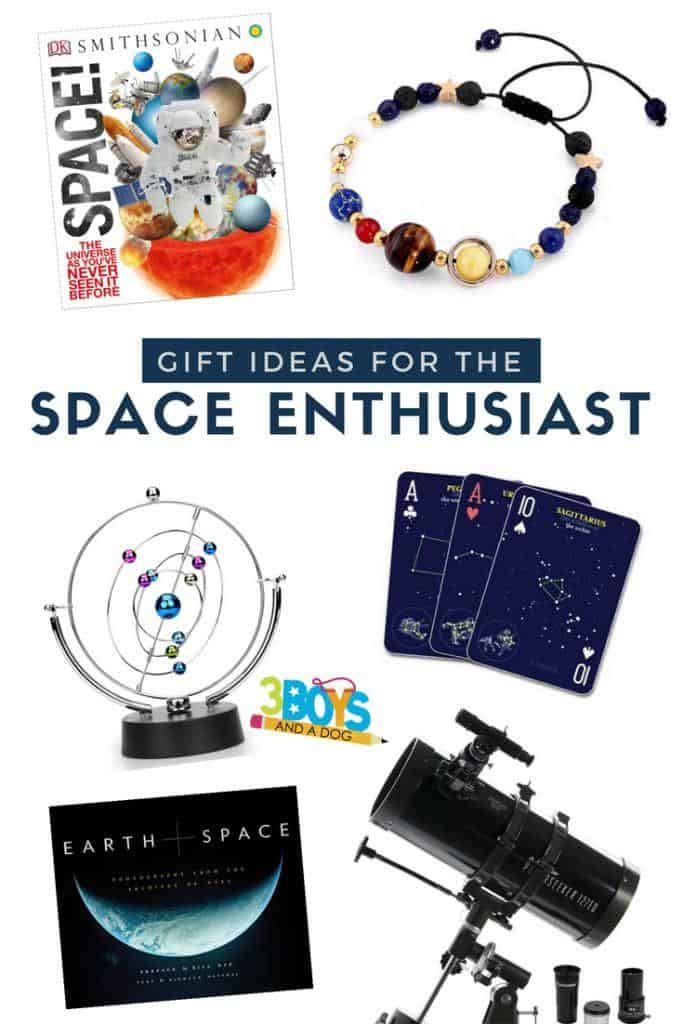 Put these Gift Ideas for the Space Enthusiast on your list. These fun ideas will help you find the perfect gift to fit any space enthusiast's personality.