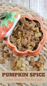 recipe for pumpkin spice chex mix snacks