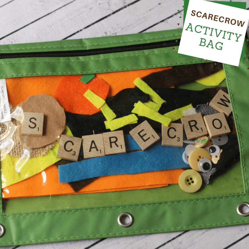 Scarecrow activity bag craft for kids