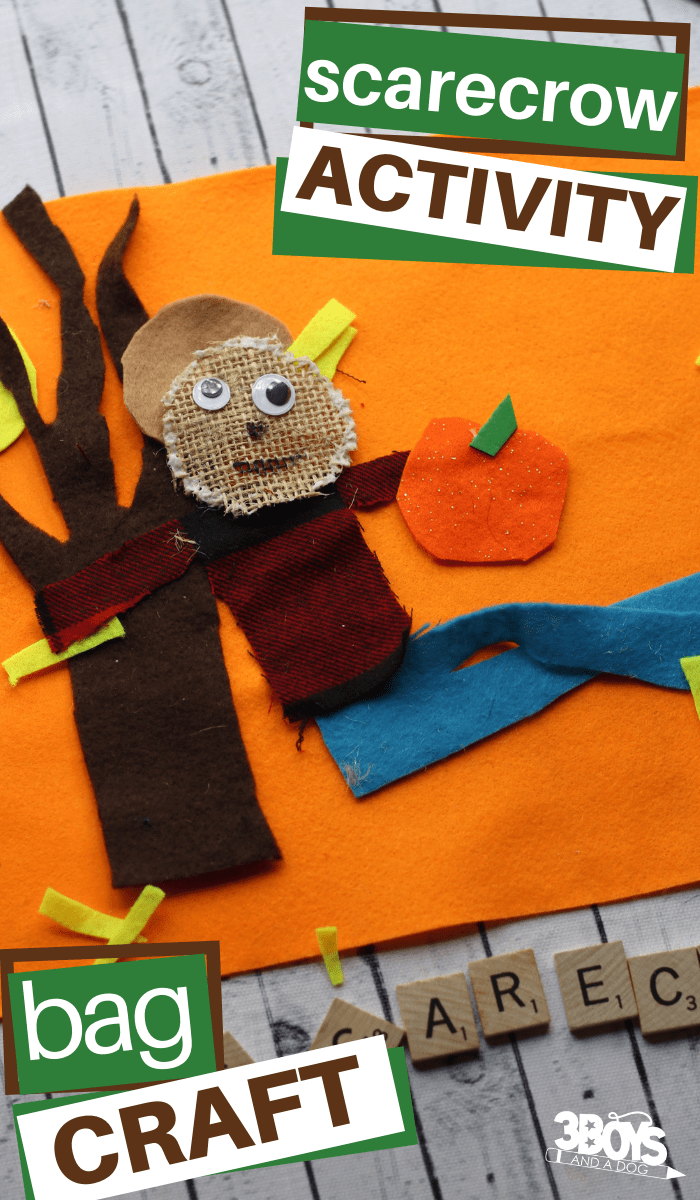 Scarecrow activity bag craft