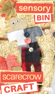 Scarecrow sensory bin craft