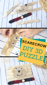 Make your preschooler a 3d scarecrow puzzle
