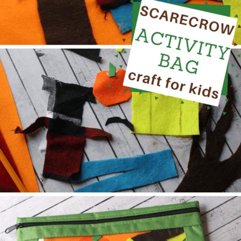 Make your preschooler a scarecrow activity bag