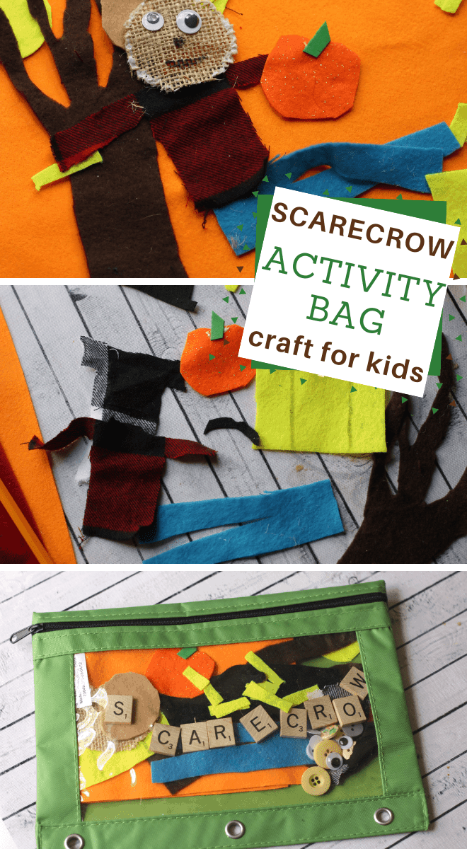 Make your preschooler a scarecrow activity bag