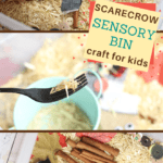 Make your preschooler a scarecrow sensory bin
