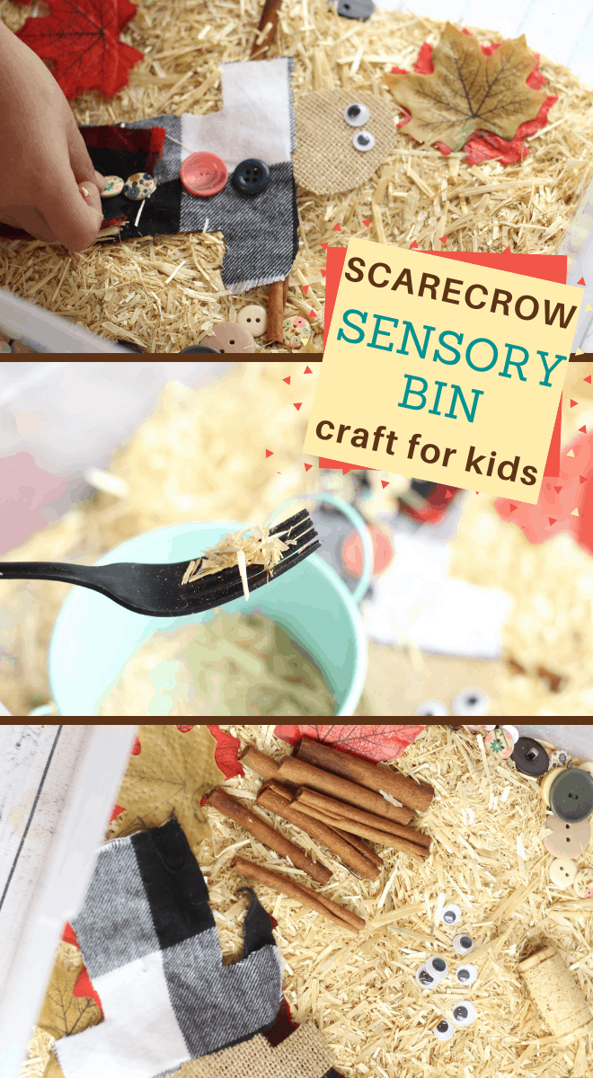 Make your preschooler a scarecrow sensory bin