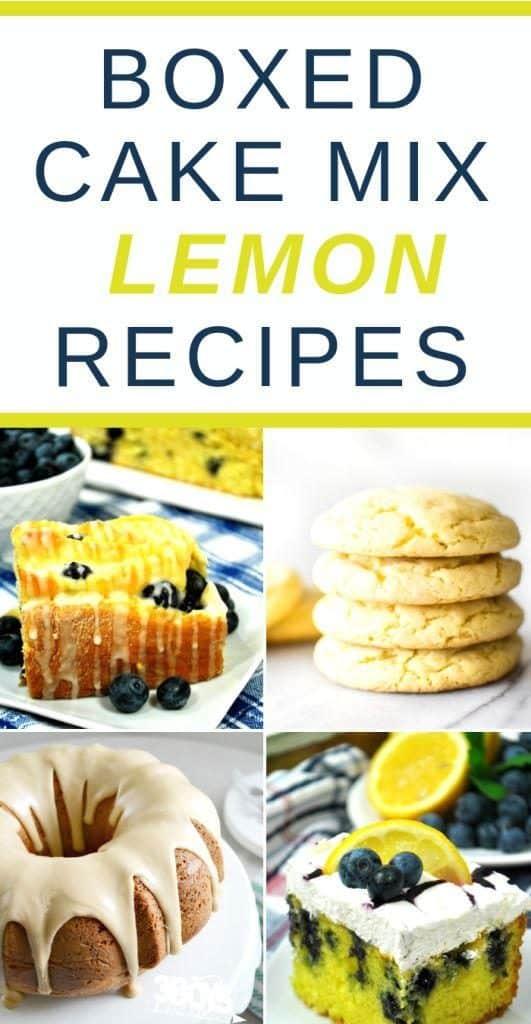 lemon cake mix recipes
