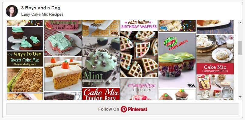 easy cake mix recipes pin board