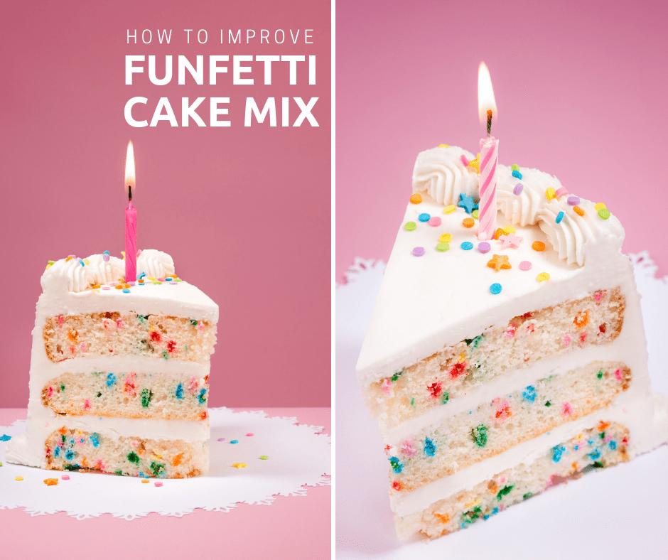 how to improve funfetti cake mix plus recipe