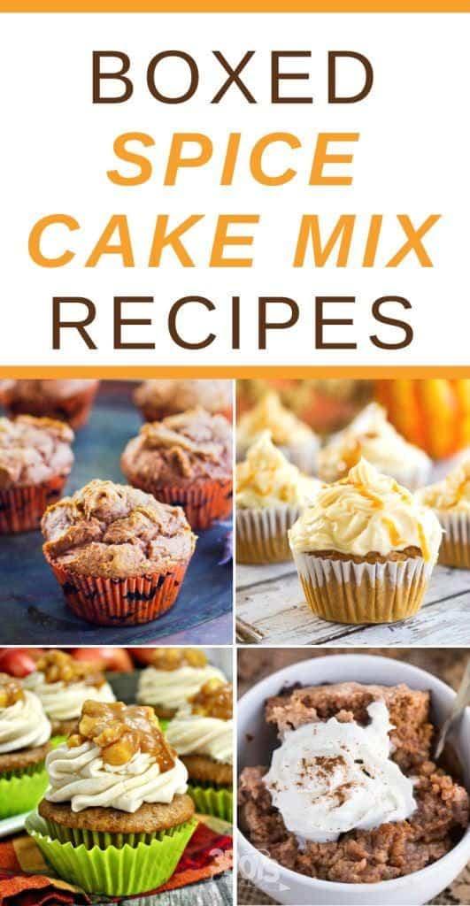 recipes using spice cake mix