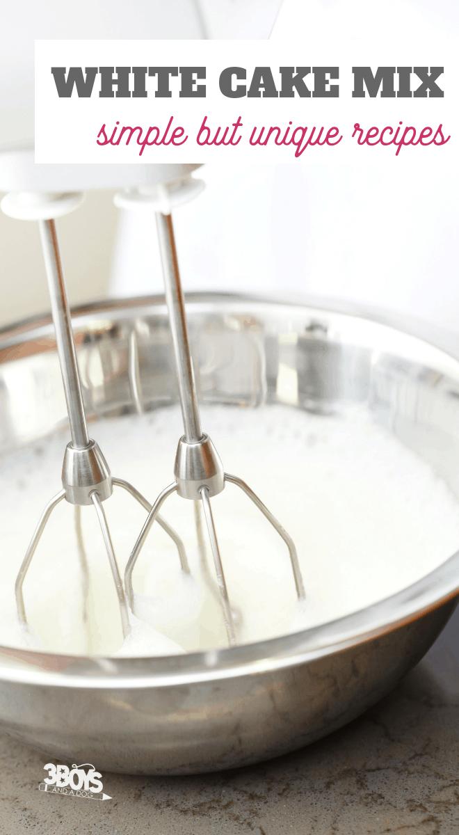 white or angel food cake mix recipes