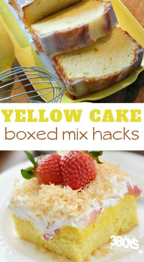 recipes with yellow cake mix