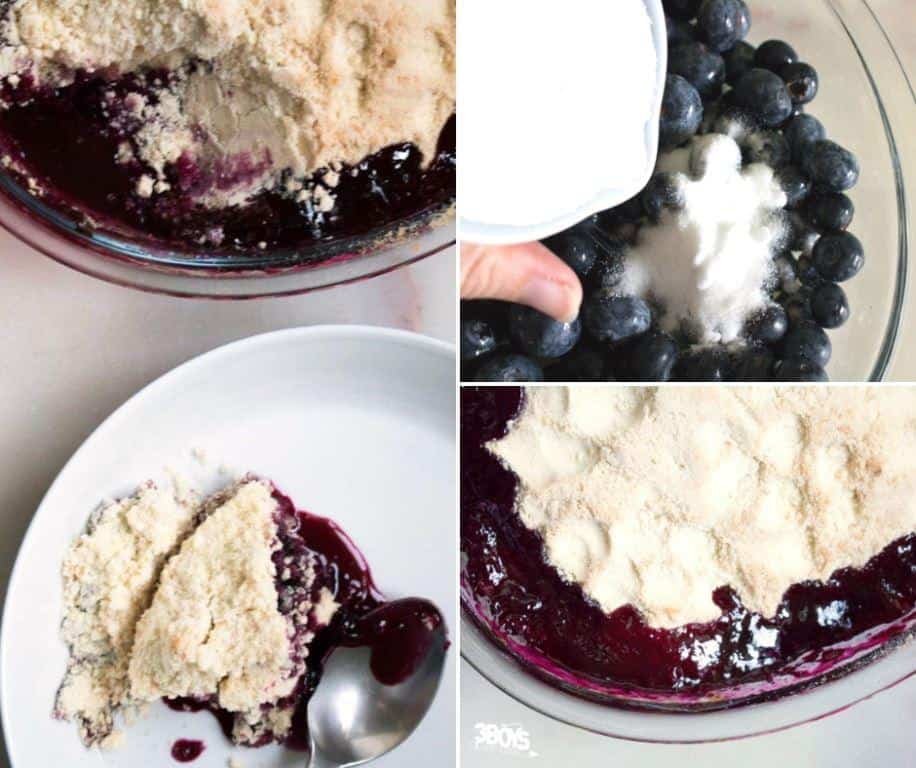 simple and easy to make blueberry crumble dessert recipe