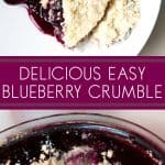 delicious and easy blueberry crumble dessert recipe