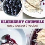 simple dessert recipe for blueberry crumble