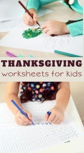 printable free worksheets for thanksgiving