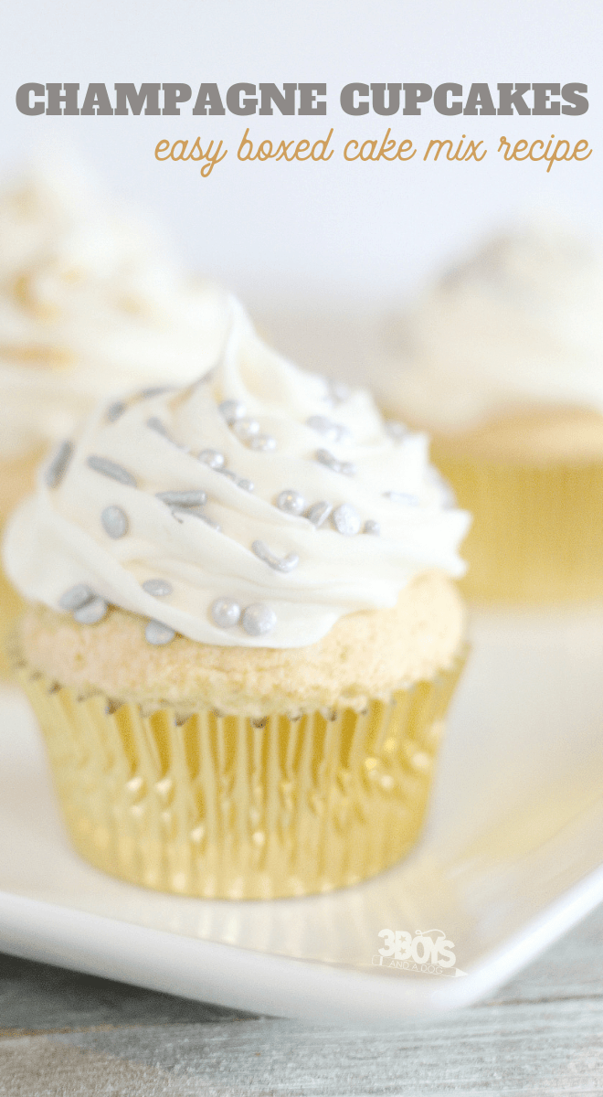 delicious cupcakes made from boxed cake mix and pink champagne