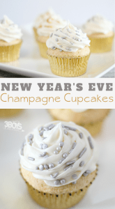 New Years Eve Champagne Cupcakes are easy and delicious
