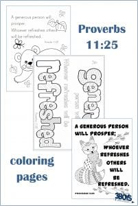 Proverbs 11.25 Coloring Pages