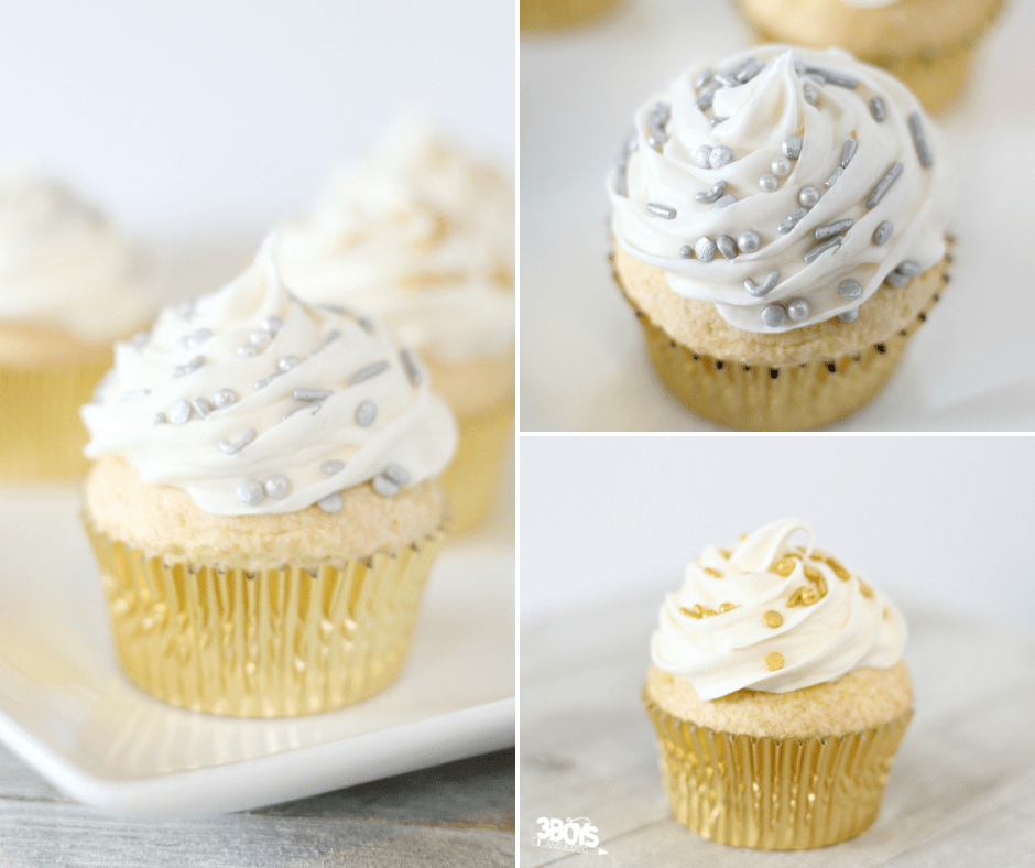 New Years Eve Champagne Cupcakes are also great for a wedding