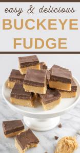 Buckeye Fudge Christmas Candy Dessert Recipe