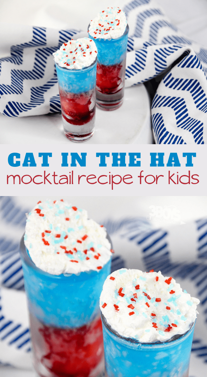 red and blue colored mocktail