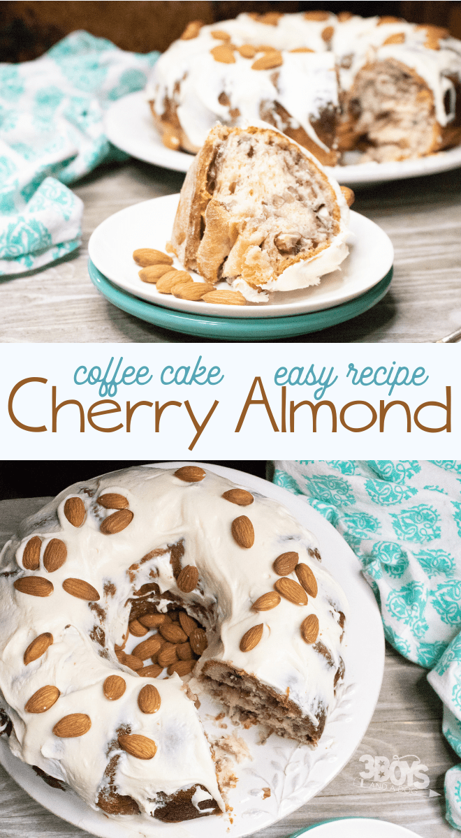 delicious cherry and almond brunch coffee cake recipe