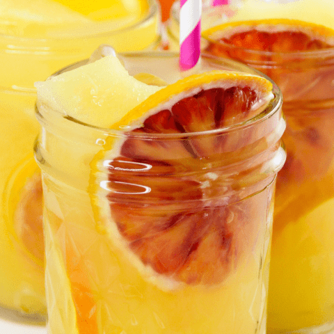orange lemonade party drink for kids