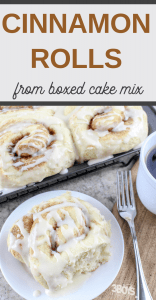 delicious cake mix cinnamon rolls for breakfast